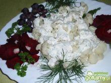 Kalafior w sosie majonezowo pietruszkowy
