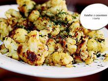 Kalafior z czosnkiem i curry