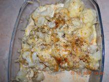 Kalafior z kurczakiem zapiekany serem