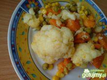 Kalafior z marchewką na ciepło