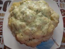 Kalafior z sosem serowo - koperkowym