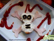 kanapka czaszka -halloween
