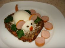 Kanapka myszka z jajka