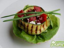 Kanapka z grillowanymi warzywami