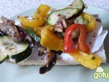 Kanapki z grillowanymi warzywami
