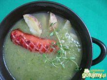 Kapuściano-kalafiorowa zupa z wkładką