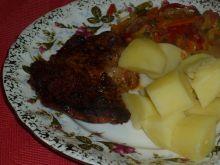 Karczek w marynacie z bazylią, czosnkiem i ketchup