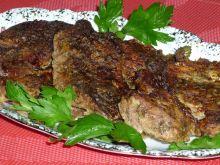 Karkówka pieczona w musztardzie i cząbrze