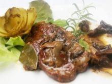 Karkówka w sosie grzybowym