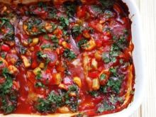 Karkówka z warzywami na pomidorowo