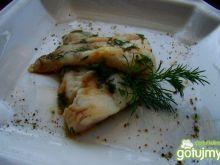 Karmazyn w marynacie ostrygowo-sojowej