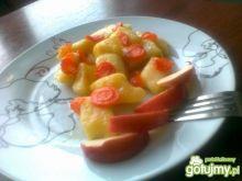 Karmelki z jabłkiem i marchewką