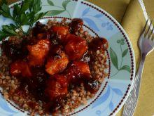 Kąski kurczaka w słodko-kwaśno-ostrym sosie