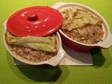 Kasza gryczana z boczkiem i kapustą pekińską