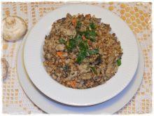Kasza gryczana z mięsem i pieczarkami, gryczotto