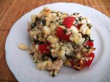 Kasza jaglana z kurczakiem i warzywami