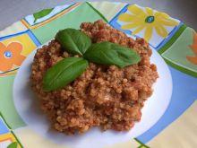 Kasza jaglana z tuńczykiem i pomidorami