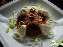 Kasza jęczmienna z słodka papryka i fetą