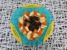 Kasza manna z owocami