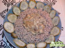 Kasza pęczak z sosem grzybowym