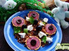 Kasza prażona z fetą i oliwkami