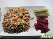 Kasza z gulaszem warzywnym