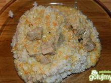 Kasza z gulaszem wieprzowym z karczku