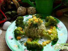 Kasza z masełkiem i brokułami