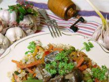 Kasza z podgrzybkami i warzywami