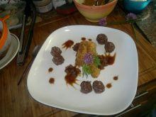 Kaszankowe kulki ze smażonymi ziemniaczkami