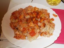 Kaszotto pomidorowo-kiełbasiane