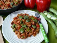 Kaszotto z bobem i suszonymi pomidorami