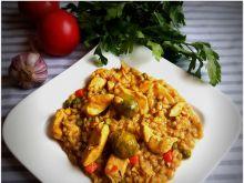Kaszotto z kurczakiem i  z odrobiną warzyw