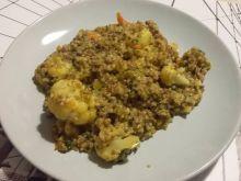 Kaszotto z warzywami i mielonym mięsem