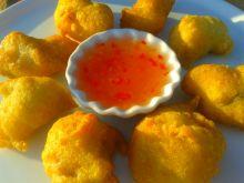 Kawałki kurczaka w cieście kokosowym