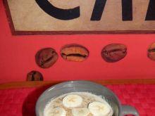 Kawowa owsianka z bananem