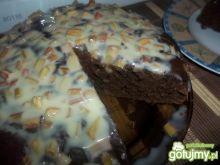 Kawowe ciasto z rabarbarem