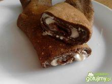 Kawowo-kakaowe naleśniki z serkiem