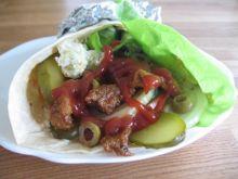 Kebab z sosem czosnkowym