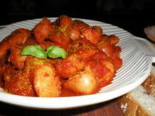 Kiełbaski w sosie curry