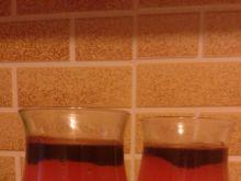 Kisiel truskawkowy z sosem tiramisu