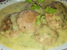 Klopsiki z mortadeli w sosie serowym