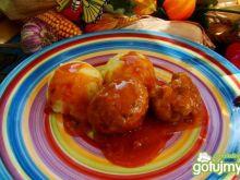 Klopsiki  na pomidorowo z bazylią