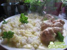 Klopsiki pietruszkowe z ryżem