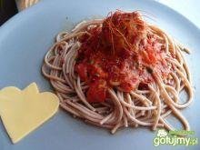 Klopsiki w mocno pomidorowym sosie
