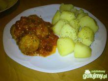Klopsiki w sosie pomidorowo-musztardowym