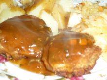 Klopsy z czosnkiem marynowanym i natką
