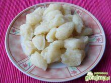 Kluseczki z kaszy manny i ziemniaków