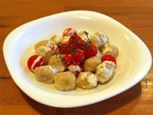 kluski z kabaczka w sosie z sera feta