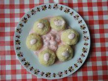 Knedle serowo-ziemniaczane z truskawkami